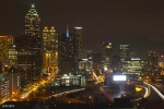 the view of downtown Atlanta  from my room